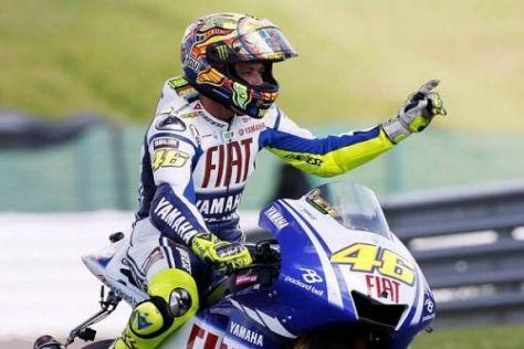 Valentino Rossi würde sich gern mit einem Sieg aus Donington verabschieden