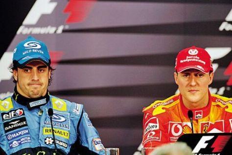 Schumi-Duell mit Alonso