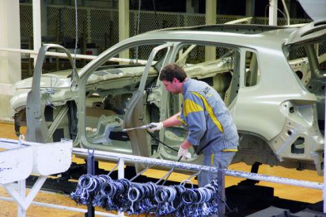 In Wolfburg entsteht der VW Tiguan.