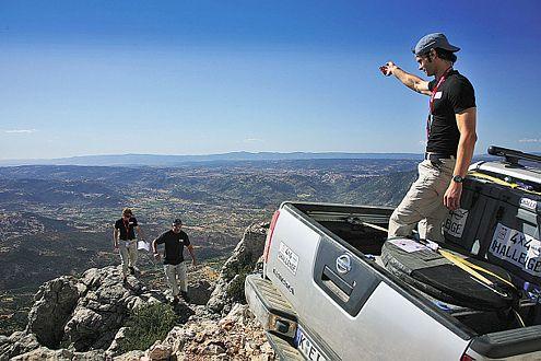 Luftig: In den Bergen müssen Zielpunkte angesteuert werden.