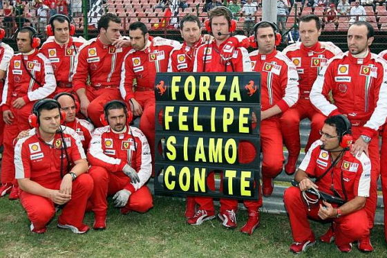 Formel 1 Crash Felipe Massa