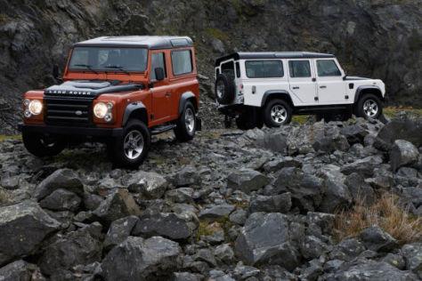 Land Rover Defender Sondermodelle Fire und Ice