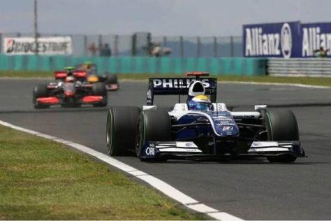 Nico Rosberg fuhr wie schon auf dem Nürburgring auf Rang vier