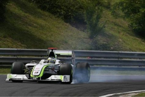 Jenson Button kämpfte mit seinem Auto und wurde am Ende nur Siebter