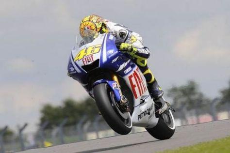 Wichtige Punkte: Valentino Rossi fuhr trotz eines Sturzes noch auf Platz fünf