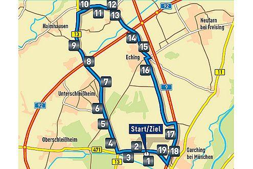 Der Test: 19 Aufgaben auf einem 25-Kilometer-Kurs.