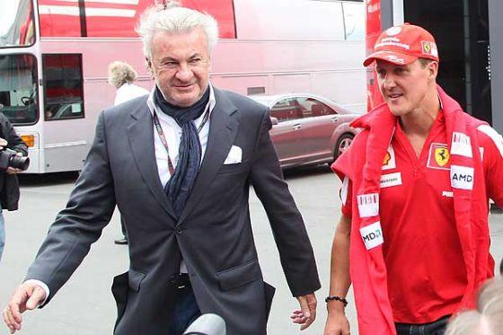 Michael Schumacher mit Manager Wilhelm Willi Weber