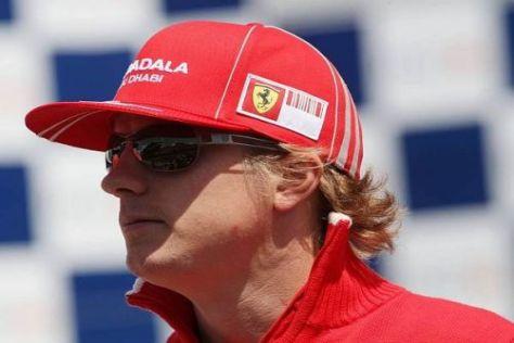 Kimi Räikkönen kam beim Test sehr gut mit Schotter zurecht