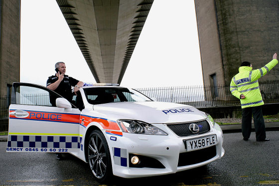 Lexus IS-F V8 als Polizeiwagen