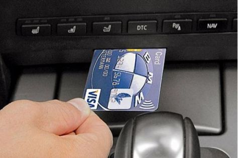 Visa-Bezahlsystem von BMW