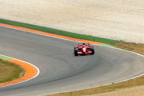 Michael Schumacher testet in Mugello