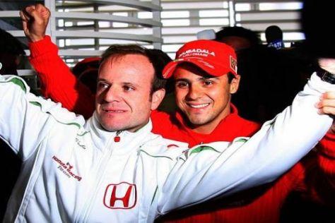 Ihre Freundschaft bleibt ungetrübt: Rubens Barrichello und Felipe Massa