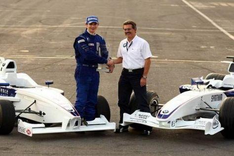 Alexander Rossi (l.) darf im Dezember für das BMW Sauber F1 Team testen