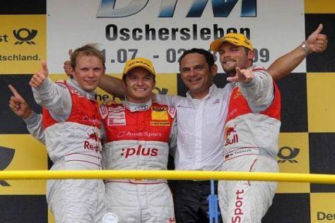 Hans-Jürgen Abt durfte mit seinen Piloten einen Dreifachsieg feiern