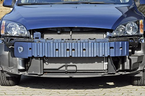 Beispiel Ford Focus: Der Stoßfänger ist breit und hoch genug.