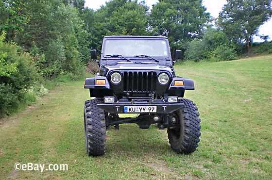 Jeep Wrangler TJ / UNIMOG V12 BMW ebay Auktion