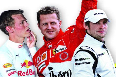 Formel 1 2009 Sebastian Vettel Michael Schumacher Jenson Button