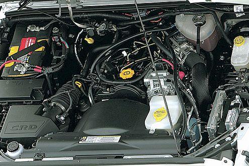 Jeep Wrangler Unlimited: kräftig nagelnder Diesel aus dem Cherokee, aber mit mehr Leistung.