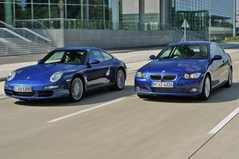 Test BMW 335i gegen Porsche 911