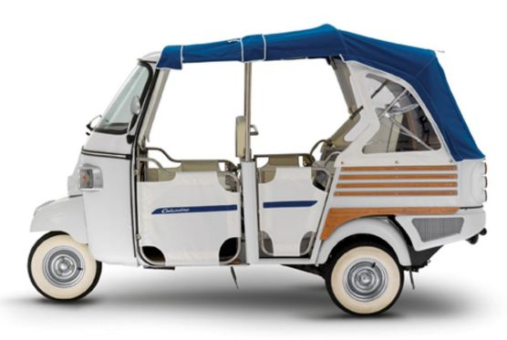 piaggio ape mit elektro antrieb e sel aus e talien. Black Bedroom Furniture Sets. Home Design Ideas