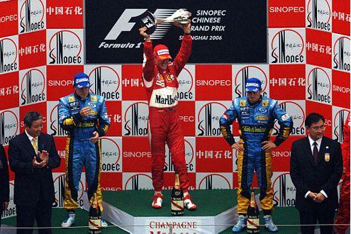 Schumi dreht 2006 noch einmal auf, kämpft verbissen und siegt unter anderem beim GP von China.
