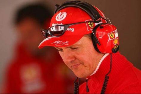 Michael Schumacher wirkt nach seiner Comeback-Absage niedergeschlagen