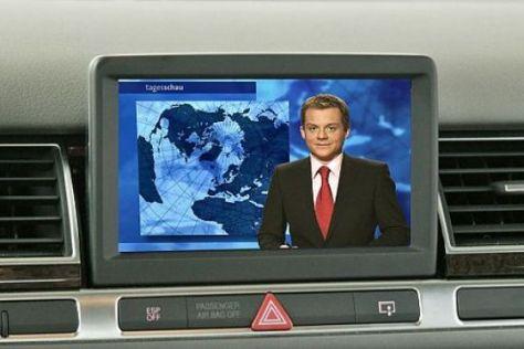 Fernsehen an Bord finden Autofahrer nicht interessant.