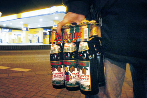Verbot von Alkohol an Tankstellen