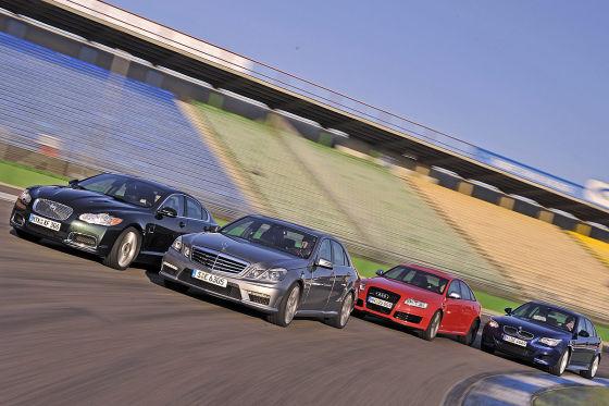 Audi RS 6 BMW M5 Mercedes E 63 AMG Jaguar XFR