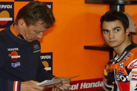 Mike Leitner und Dani Pedrosa suchen wieder den Anschluss an Yamaha