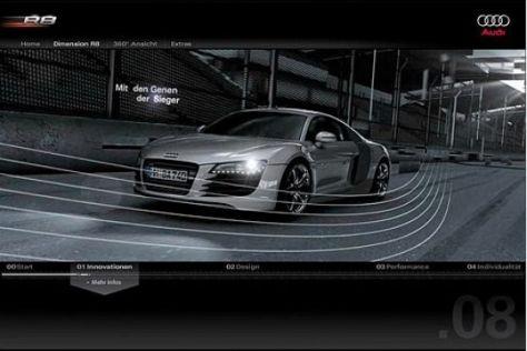 Audi R8 im Internet