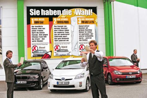 VW Golf Toyota Prius BMW 1er