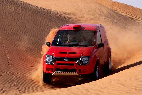 Am 6. Januar 2007 startet die Rallye Dakar – mit dem Panda Cross Dakar.