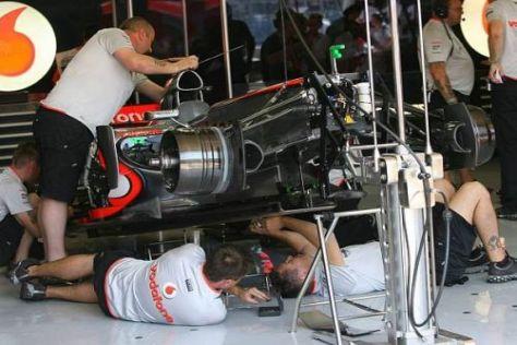 Lewis Hamiltons Auto konnte vorzeitig für den Samstag umgebaut werden