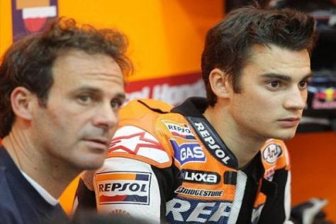 Dani Pedrosa mit seinem Mentor und Manager Alberto Puig