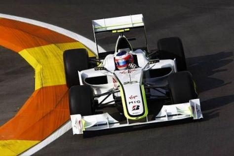 Rubens Barrichello leistete sich wie Jenson Button einen kleinen Schnitzer