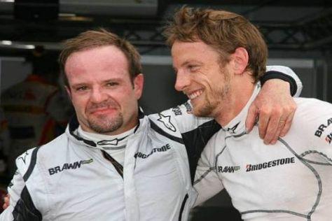 Eingespieltes Gespann: Altstar Rubens Barrichello und Jenson Button