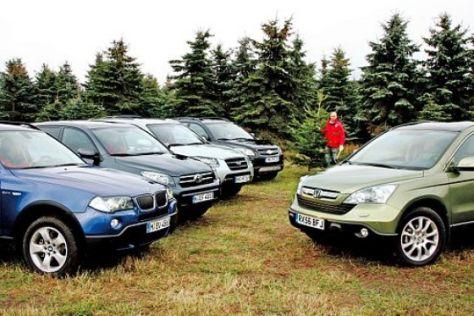 Fünf Kompakt-SUV im Test