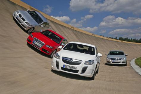 Vier Sportliche Limousinen Im Vergleich Autobild De