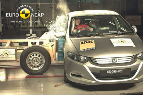 Honda Insight Hybrid im EuroNCAP-Crashtest August 2009