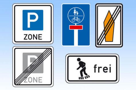 Neue Verkehrsschilder 2009