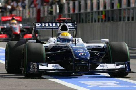 Das war nix: Nico Rosberg fuhr der Konkurrenz massiv hinterher