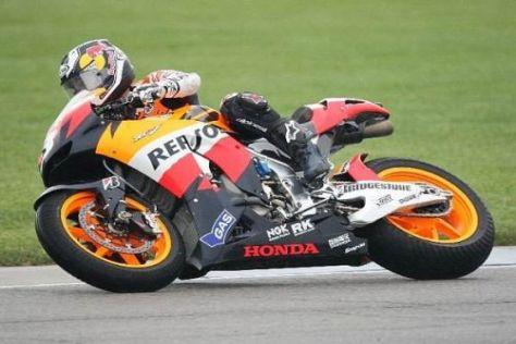 Die erste Runde in Indianapolis ging an Spanien: Dani Pedrosa fuhr zur Bestzeit