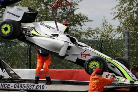 Der gestrige Ausfall war Jenson Buttons erster in der laufenden Saison