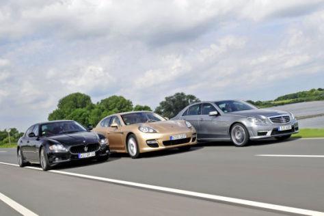 Maserati Quattroporte Sport GTS Porsche Panamera Turbo Mercedes E 63 AMG