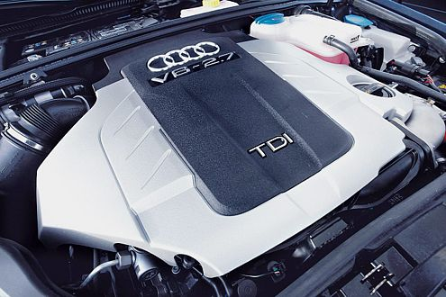 Musterknabe: Der Diesel im A4 ist auch bei Volllast kaum zu hören.