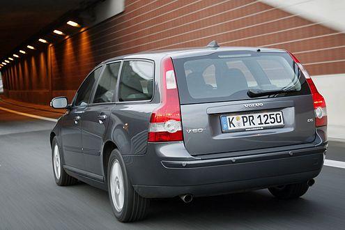 Schicker Hintern: Das Heck des Volvo V50 ist kein Schluckspecht.