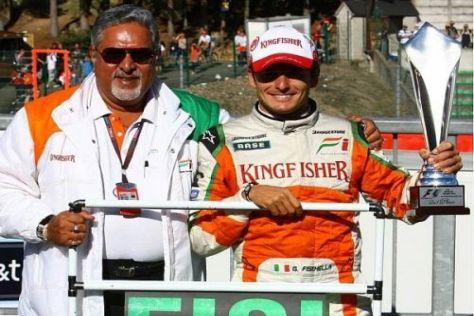Vijay Mallya und Giancarlo Fisichella gehen von nun an getrennte Wege