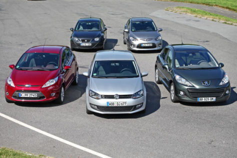 Ford Fiesta Mazda2 Peugeot 207 Seat Ibiza VW Polo