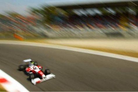 Timo Glock im TF109: Sieht schnell aus, ist aber noch zu langsam